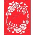 Трафарет объемный Рамка с розами, 21х26 см, толщина 0,5 мм