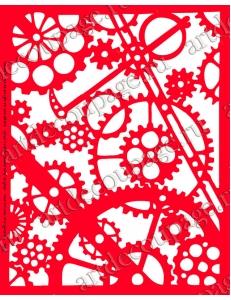 Трафарет объемный Шестеренки, 21х26 см, толщина 0,5 мм