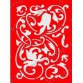 Трафарет объемный Орнамент с завитками, 15х18 см, толщина 0,5 мм