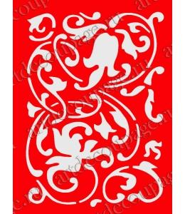 Трафарет объемный Растительный орнамент, 21х26 см, толщина 0,5 мм