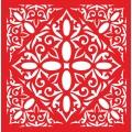 Трафарет объемный Орнамент 108, 19х19 см, толщина 0,5 мм