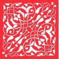 Трафарет объемный Орнамент 118, 19х19 см, толщина 0,5 мм