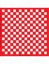 Трафарет объемный Шахматная клетка, 19х19 см, толщина 0,5 мм