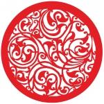 Трафарет объемный Круглый орнамент, 19х19 см, толщина 0,5 мм