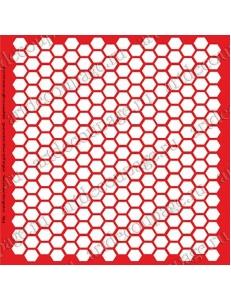 Трафарет объемный Соты, 19х19 см, толщина 0,5 мм