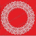 Трафарет объемный Орнамент плетенка, 19х19 см, толщина 0,5 мм