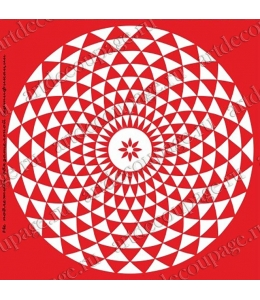 Трафарет объемный Орнамент круглый геометрический, 19х19 см, толщина 0,5 мм