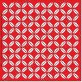 Трафарет объемный Орнамент геометрический японский, 19х19 см, толщина 0,5 мм