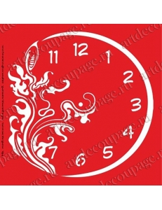 Трафарет объемный Часы с узорами, 19х19 см, толщина 0,5 мм