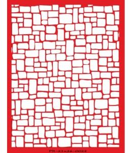 Трафарет объемный Каменная кладка, 21х26 см, толщина 0,5 мм