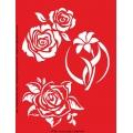 Трафарет объемный Розы и лилия, 21х26 см, толщина 0,5 мм