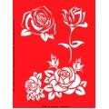 Трафарет объемный Розы, 21х26 см, толщина 0,5 мм