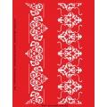 Трафарет объемный Бордюры с орнаментом, 21х26 см, толщина 0,5 мм