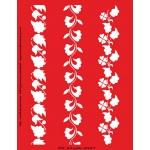 Трафарет объемный Растительные бордюры, 15х18 см, толщина 0,5 мм