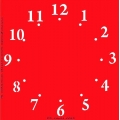 Трафарет объемный Циферблат 3, 24х24см, толщина 0,5 мм
