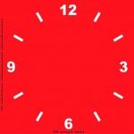 Трафарет объемный Циферблат 4, 24х24см, толщина 0,5 мм