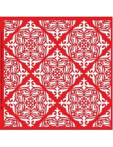 Трафарет объемный Орнамент с ромбами 24х24см, толщина 0,5 мм