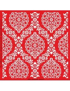 Трафарет объемный Цветочный орнамент 24х24см, толщина 0,5 мм