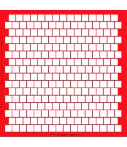 Трафарет объемный Квадраты 24х24см, толщина 0,5 мм