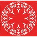 Трафарет объемный Орнамент круглый растительный, 19х19 см, толщина 0,5 мм
