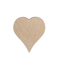 Заготовка подвеска Сердце малое фигурное, фанера, 8х8,5 см, Россия