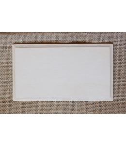 Заготовка панно прямоугольное с фаской, фанера, 14х24 см, Россия
