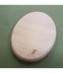 Заготовка панно овальное 19,8х27,5 см, сосны, круглый край, Россия