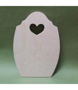 Заготовка доска с сердечком, 18,5х27 см, фанера