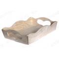 Заготовка поднос деревянный прямоугольный с ручками сердечками, 20х30х8 см, Россия