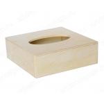 Заготовка салфетница деревянная для больших салфеток, 18,5х18,5х6 см, Россия