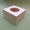 Заготовка салфетница деревянная для маленьких салфеток, 13х13х8 см, Россия