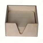 Подставки под горячее в коробке, фанера, 14,3х14,3х7,3 см, Россия