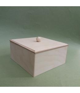 Заготовка коробка малая, фанера, 15х15х7 см, Россия