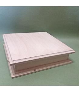 Заготовка купюрница двойная деревянная с фаской, 20х19х5 см, Россия