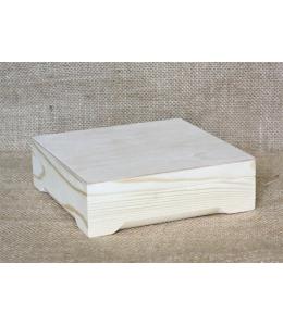 Заготовка шкатулка деревянная, сосна, 16х16х5 см, Россия