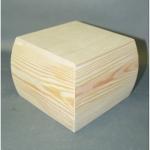 Заготовка шкатулка, сосна, 13х13х9,5 см, Россия