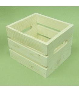 Заготовка Ящик квадратный реечный, сосна, 15х15хh12 см, Россия