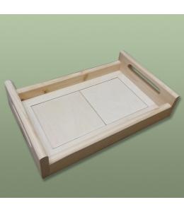 Заготовка поднос с 2 плитками 24х39 см, сосна
