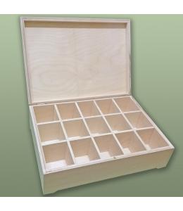 Заготовка шкатулка деревянная 15 отделений, 34х25х10 см, Россия