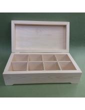 Заготовка шкатулка деревянная 8 отделений, сосна, 32х17х9 см, Россия