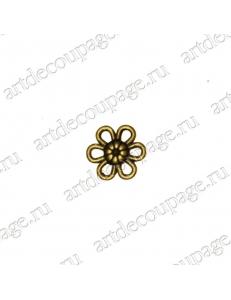 """Накладной элемент """"Вензель 42"""" 12 мм, цвет античная бронза"""