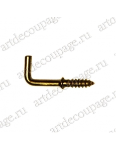 Декоративый крючок 8х21 мм, состаренное золото