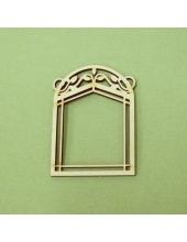 Плоская фигурка Окно арка резное, фанера, 5х7 см, Россия