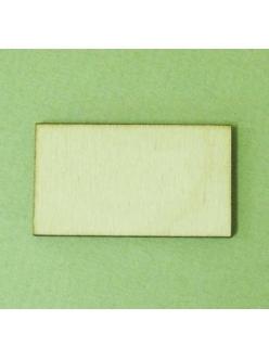 Заготовка дощечка накладка 072, фанера, 10х6 см, Россия