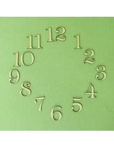 Цифры для часов деревянные арабские LAZ-50-118, 50 мм, фанера, Россия