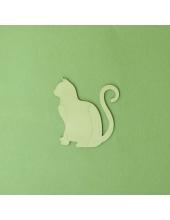 Плоская фигурка Кошка, фанера, 5 см, Россия
