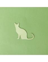 Плоская фигурка Кошка сидит, фанера, 5 см, Россия