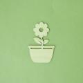Плоская фигурка Цветок, фанера, 5 см, Россия