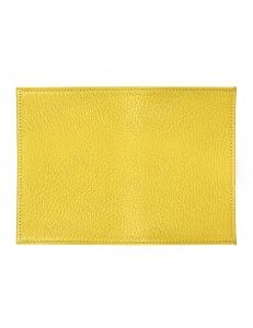 Заготовка обложка на паспорт, натуральная кожа, цвет желтый, 13,0х19,0 см