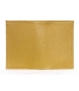 Заготовка обложка на паспорт, натуральная кожа, цвет охра, 13,0х19,0 см
